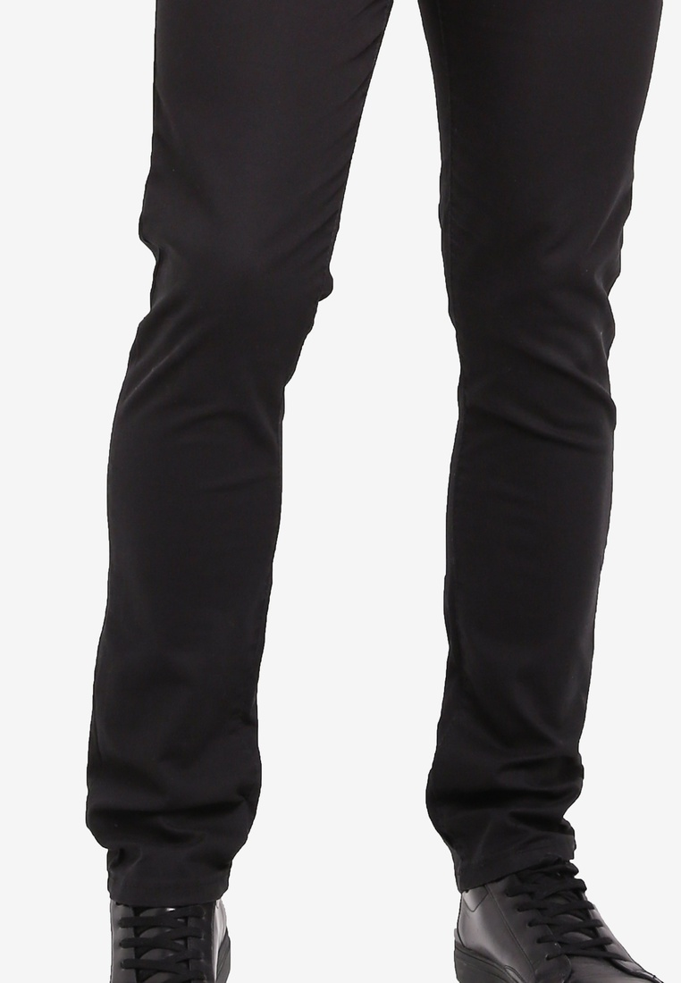 Stretchable Fidelio Slim 518 Fit Chinos Black qp7pE1z