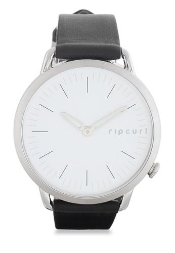 Rip Curl black Super Slim Leather Watch RI587AC03KLWID_1