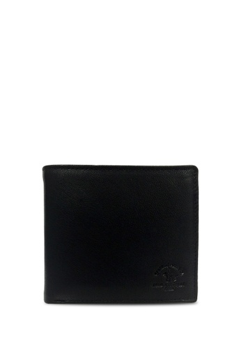 Santa Barbara Polo & Racquet Club black Santa Barbara Polo & Racquet Club Leather Bifold Wallet EC916AC97993B6GS_1
