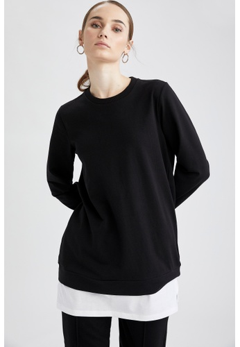 DeFacto black Woman Knitted Long Sleeve  Tunic 8FEE8AA65F124EGS_1