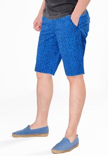 SJO & SIMPAPLY navy SPP New Maxwell Navy Print Men's Short Pants DF9B9AA949528FGS_1