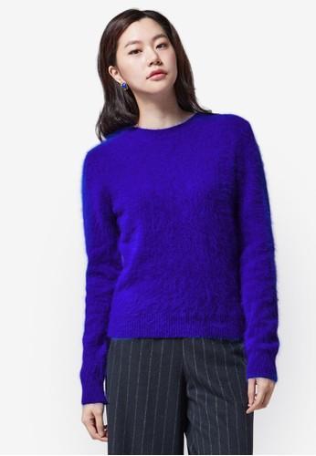 Angora 羊毛針織esprit mongkok長袖衫, 服飾, 上衣