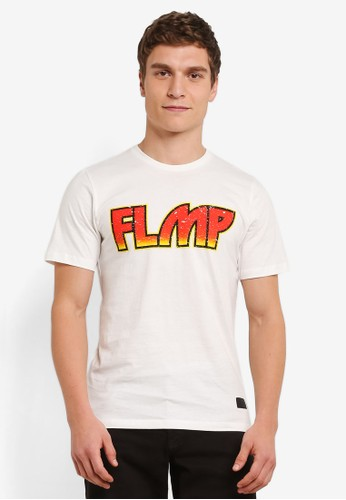 Flesh IMP white Kiss Printed T-Shirt FL064AA0S5TVMY_1