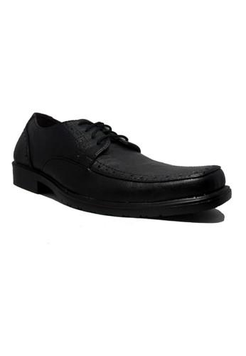D-Island Shoes Office Loafers Classic Long Wingtip Black