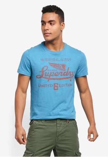 Superdry blue Limited Icarus Tee 28F42AA3FA40D8GS_1