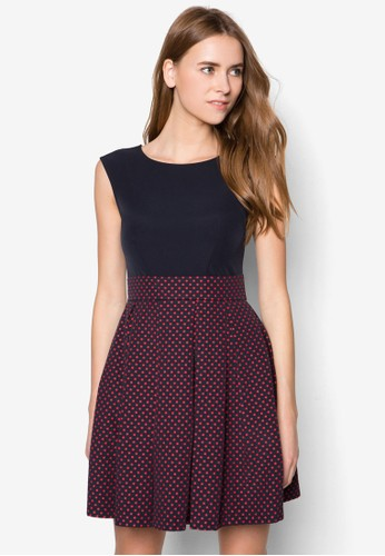 假兩件點點esprit 品牌無袖洋裝, 服飾, 洋裝