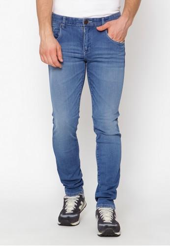 Lee Cooper blue Lee Cooper Men s NORRIS 360 Slim Fit Jeans mid crinkle  6B4F5AA87BD46BGS 1 2797dc194b