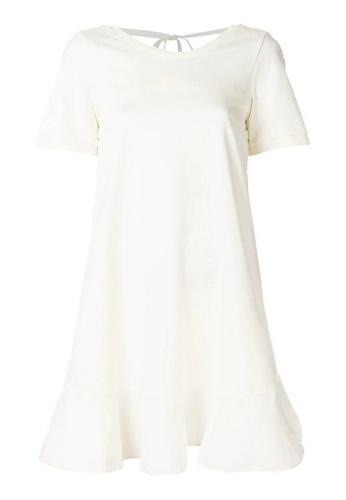Moncler white Moncler Cutout Back T-Shirt Dress in White 5EA2DAAF678BAAGS_1