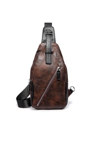 Lara brown Men's Small Crossbody Bag F315DACA30BDBBGS_1