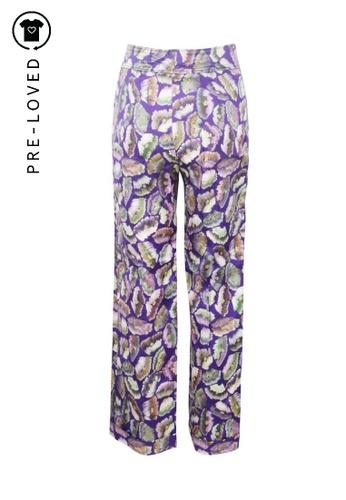 Dries Van Noten purple Pre-Loved dries van noten Purple Print Petra Straight Pants 1A476AA89C1816GS_1