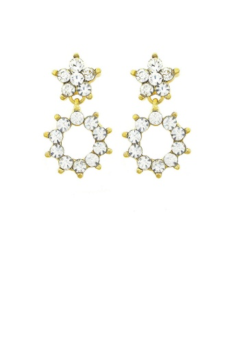 Glamorousky silver Enchanting Flowers Earrings with Silver Austrian Element Crystal AA697AC2324365GS_1
