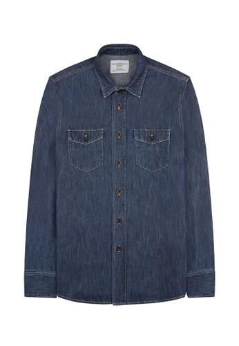Kent and Curwen blue Blue Casual Shirt C64FAAAA0EE510GS_1