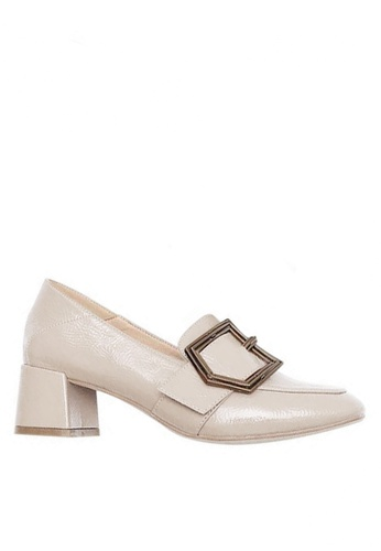 Twenty Eight Shoes 皺漆皮高踭Loafer鞋328-1 2F10FSH3566D51GS_1