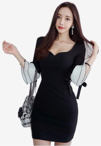 Sunnydaysweety black 2018 New Black Sweetheart One Piece Dress 5DB7BAA63D08E0GS_1
