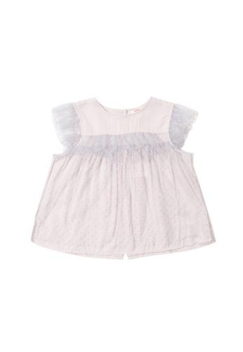 PONEY grey Poney Kid Jessica Ruffled Lace Blouse 8E01FKAAC1C9F7GS_1