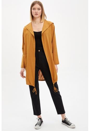 DeFacto brown Woman Woven Long Sleeve Tunic 8AC60AA3E7EB7FGS_1