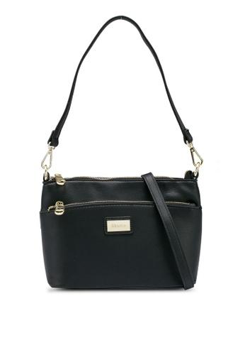 Mel&Co black Faux Leather Sling Bag 60CE7AC1859378GS_1