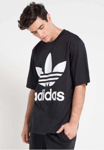 adidas black adidas originals oversize trefoil tee D5FFAAA952DDB9GS_1
