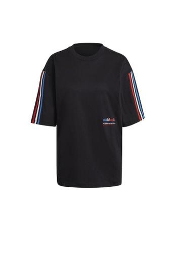 ADIDAS black adidas Originals Adicolor Tricolor Oversize Tee 2C912AA32EF6C7GS_1