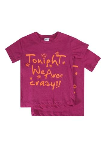 UniqTee purple Tonight We Are Crazy Kids Tee 60F3AKA8A4A0FCGS_1