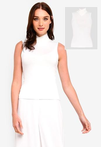 Zalia white 2-In-1 Sleeveless High Neck Inner 6E6A3AA90600B4GS_1