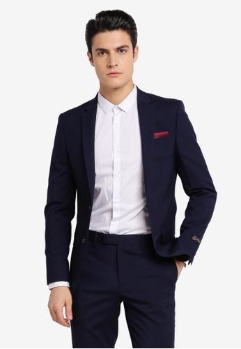 River Island navy New Apollo Slim New Blue Suit Jacket RI009AA0SRKHMY_1