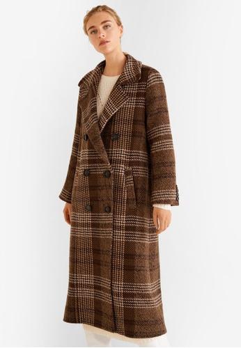 Mango brown Long Recycled Wool Coat FD202AAD2D320FGS_1