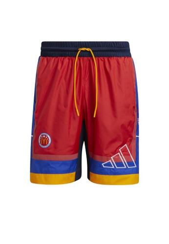 ADIDAS red Eric Emanuel McDonald's Game Time Shorts C404BAA82DB5D0GS_1