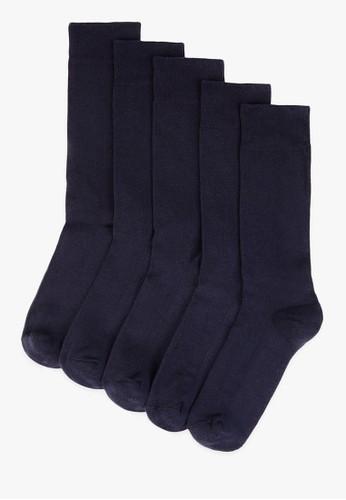 MARKS & SPENCER navy 5 Pack Cool & Fresh Cushioned Sole Socks 365BBAAA6B22B8GS_1