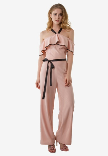 NOBASIC pink Zoey Off Shoulder Jumpsuit NO444AA0FP58SG_1