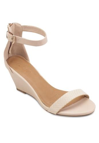 Felix 一字帶繞踝楔型鞋, 女鞋esprit門市, 鞋