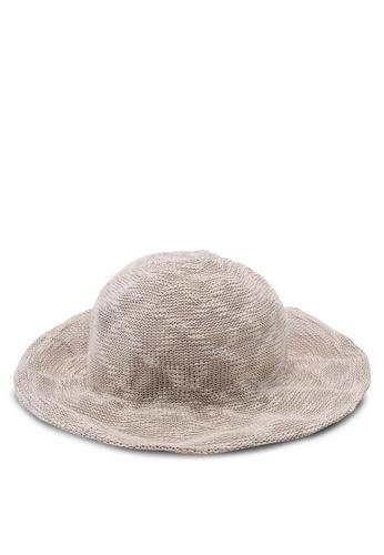 OVS 褐色 時尚漁夫帽 7B917AC5D380A4GS_1