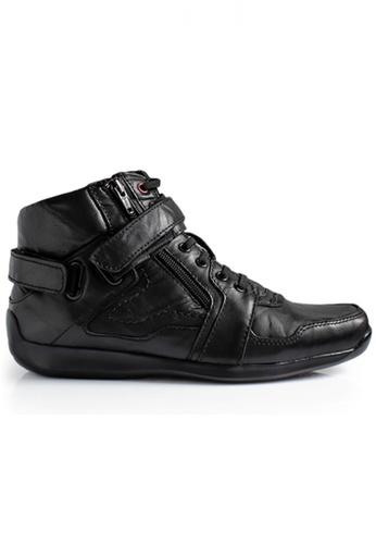Gino Mariani black Gino Mariani Men's Leather Shoes ELARIO 3 - BLACK ADA10SH8BD640AGS_1