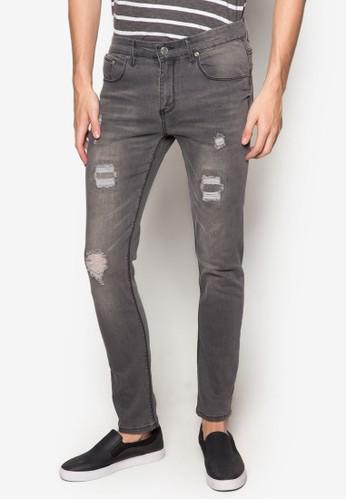 刷破水洗窄管牛仔褲, 服esprit香港門市飾, 直筒牛仔褲