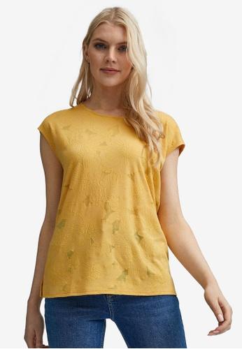 Dorothy Perkins yellow Yellow Puff Print Tie Back T-Shirt 26A66AA032E30FGS_1