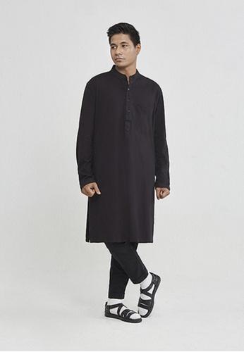 ANDY SULAIMAN black KAMEL BLACK KAFTAN BC045AA181A440GS_1