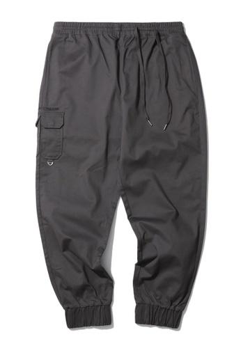 Fivecm grey Cargo joggers 340FFAA203B8B2GS_1