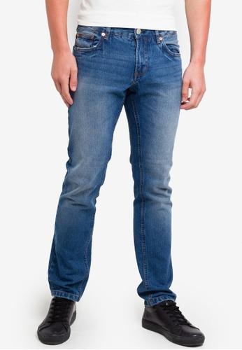 OVS 藍色 修身水洗牛仔褲 BC435AA4436042GS_1