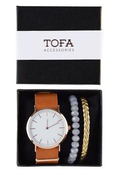 Watch And Bracelet Pack - Vachetta Watch with Bracelets