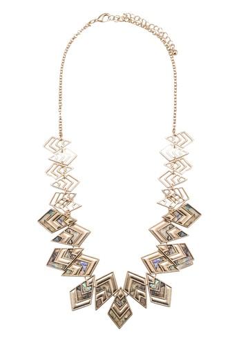 Abalone 幾何吊飾項鍊, zalora 內衣飾品配件, 飾品配件