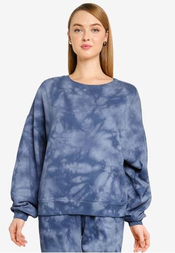 GAP 藍色 Vintage Soft 圓領Sweatshirt 414D5AA23B8367GS_1