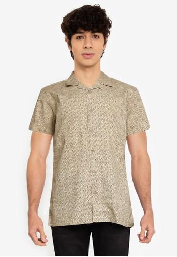 Springfield multi Floral Print Short-Sleeved Shirt BEDB8AAB222216GS_1