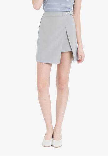 Kodz grey Skirt With Belt Buckle Detail KO698AA0RKEIMY_1