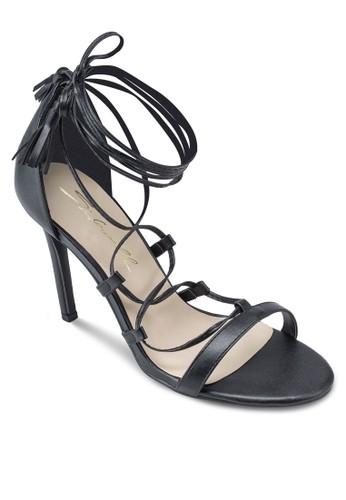 繫帶流蘇高跟涼鞋, 女鞋, esprit sg鞋