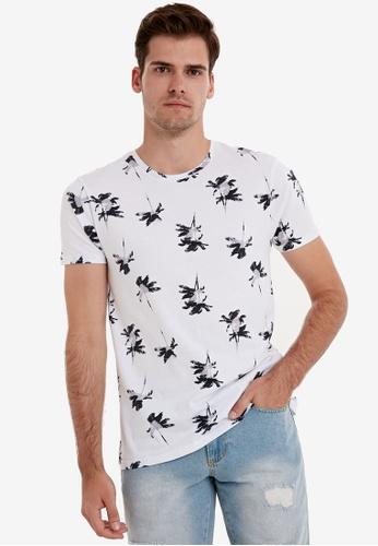LC Waikiki white Crew Neck Printed Short Sleeve T-Shirt D6BB2AA06094D5GS_1