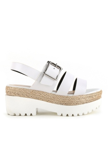 Joy & Peace white Strappy Sandals JO458SH75YGYHK_1