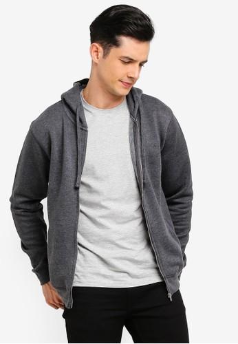 MANGO Man grey Hoodie Cotton Sweatshirt E73FEAA75C70F3GS_1