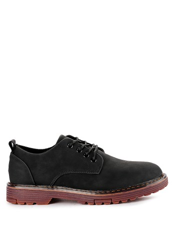 Urban State black Lace Up Flat Casual Derby Shoes 3B773SHD81F9CFGS_1