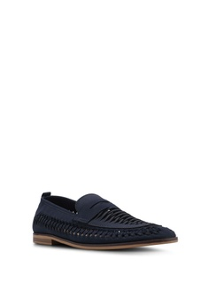 cfa3ceb77ac Topman Navy Blue Farrier Weave Shoes RM 249.00. Available in several sizes