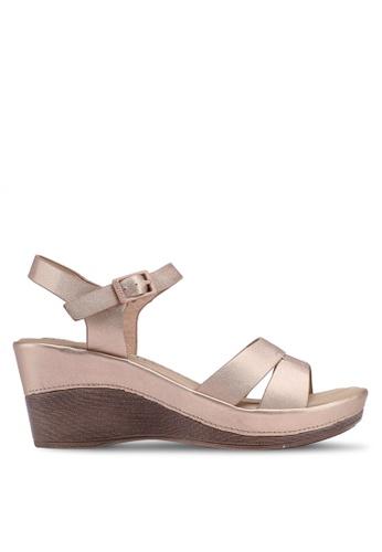 Bata 金色 繞帶楔型鞋 D1545SHE3A0348GS_1